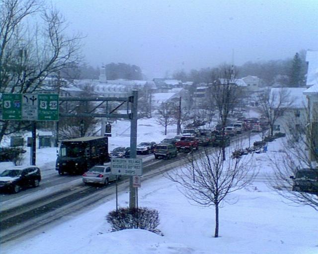 snowstorm - traffic