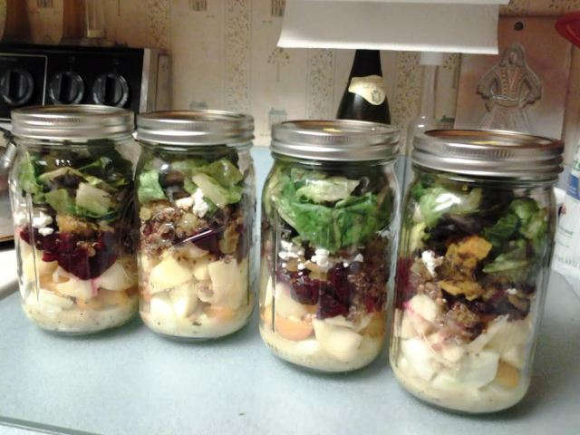 salads in jar