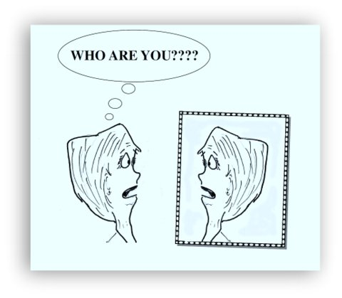 who are you cartoon